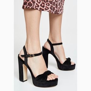 Stuart Weitzman Platform sandals NEW size 8 suede